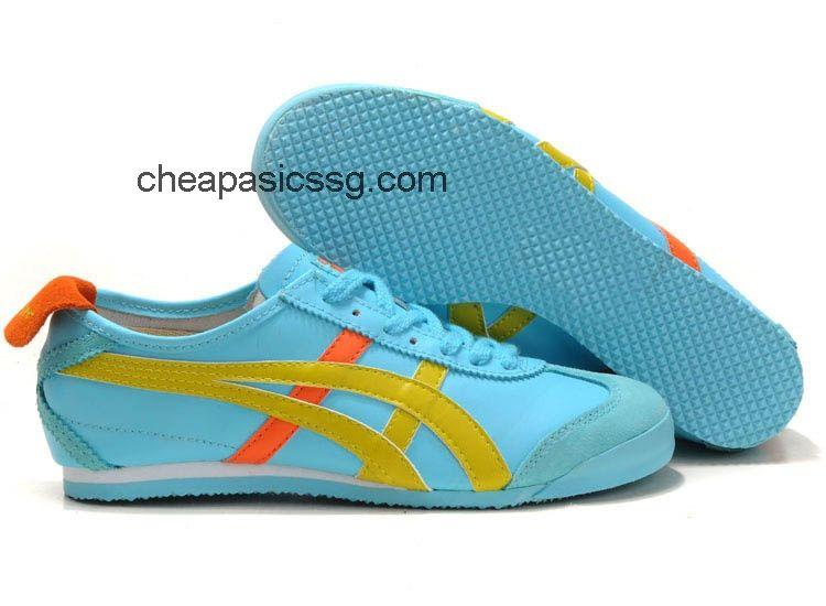 meet cc049 86c6d Onitsuka Tiger Mexico 66 Shoes Light Blue Yellow Orange  onitsukatiger