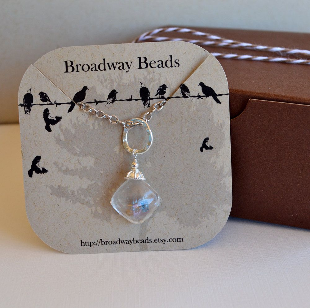 Custom Necklace Jewelry Display Cards Instead Of Punch Means Easier To Remove And It Will Actually Hold In Place