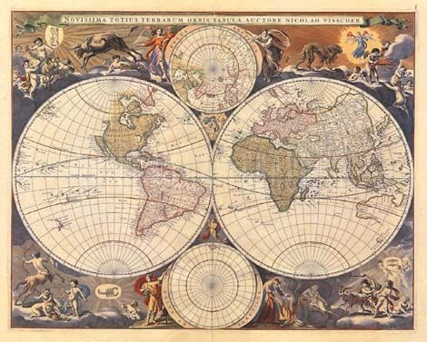 Antique World Map Maps Pinterest - new world map canvas picture