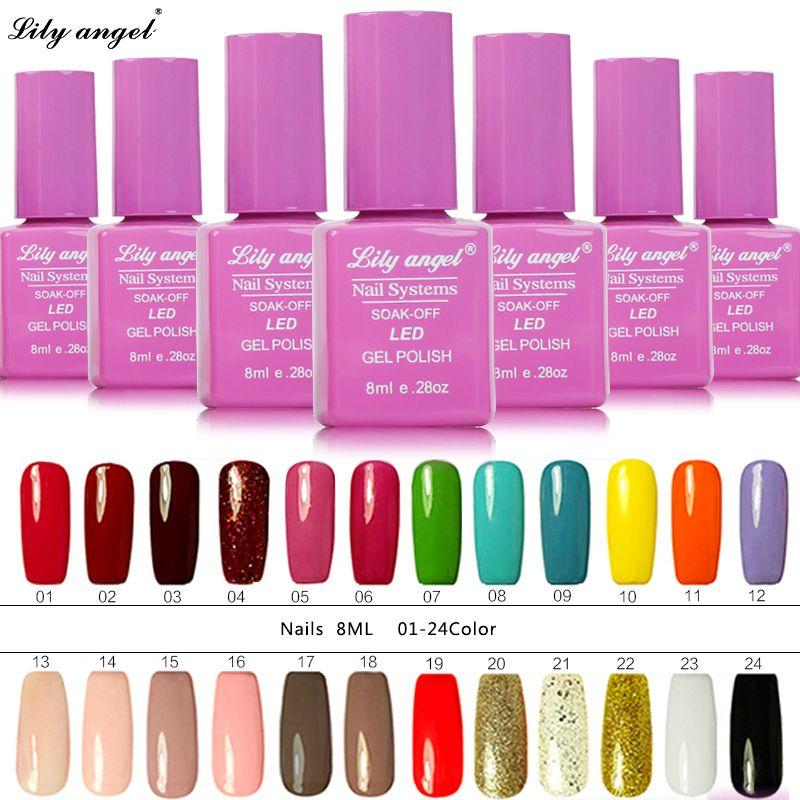 Lily angel 3pcs UV Gel Nail Polish 8ml Gelpolish Nail Art Fashion Glitter Colors Optional Varnish LED UV Gel Polish NO.1-24 #Affiliate