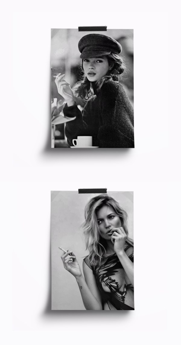 Kate moss poster kate moss vintage fashion wall art print fashion photography black and white digital download instant download