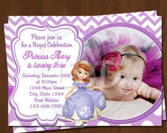 Sofia The First Invitation Sofia Birthday Invitations Sofia The