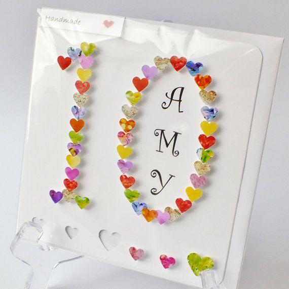 Handmade D Th Birthday Card Personalised Th Birthday Ten - Toddler birthday cards designs