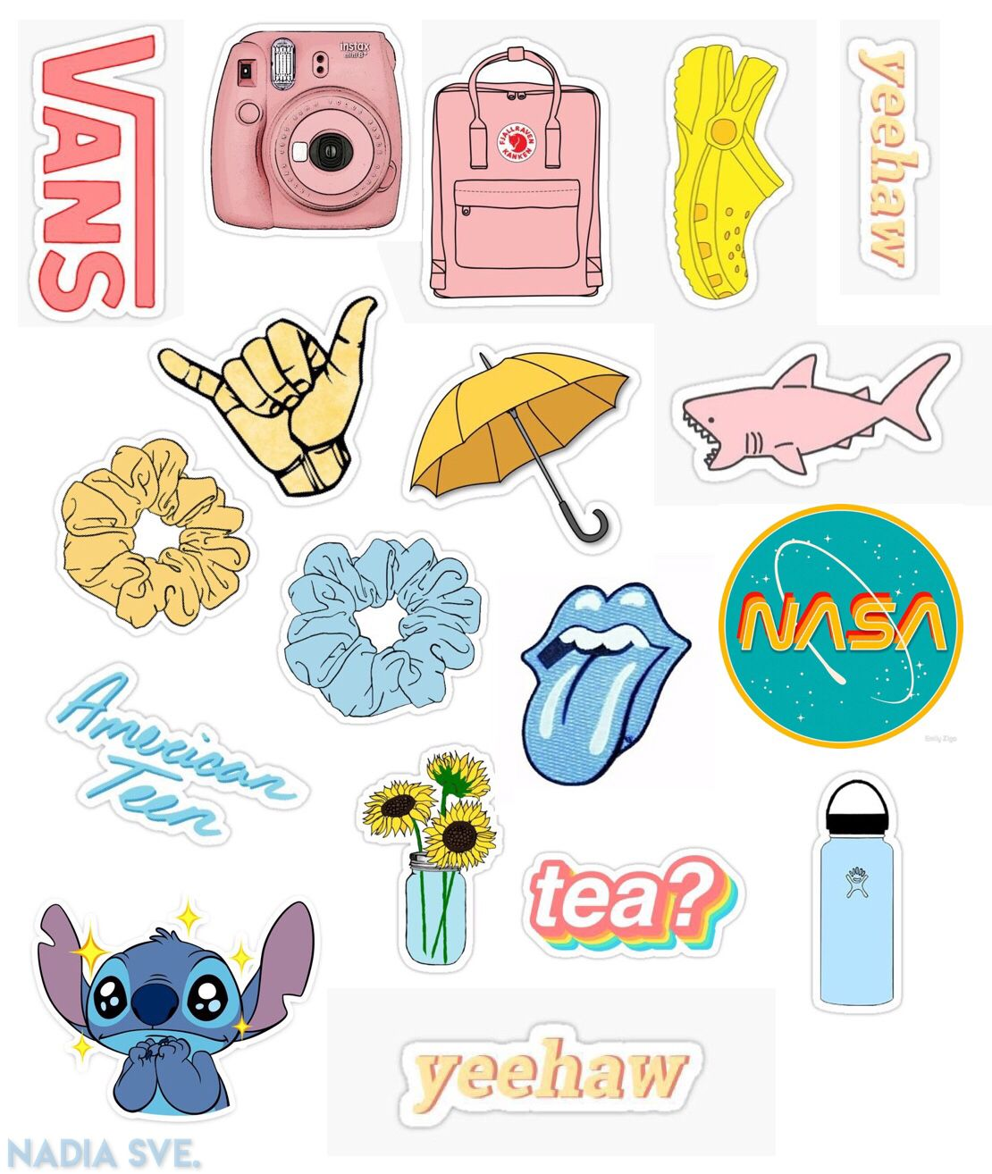 An actually AESTHETIC sticker collage download and print