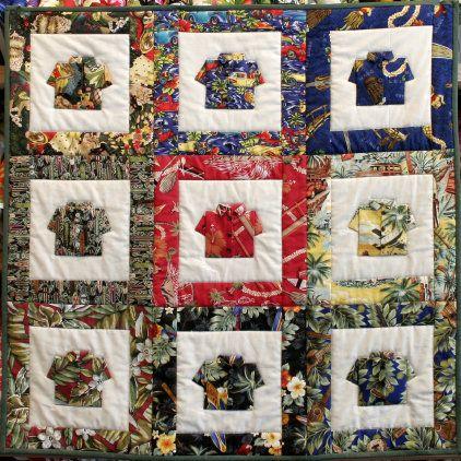Look what we found pinned....thank you!! Beyondthereefpatterns.com ... : hawaiian shirt quilt pattern - Adamdwight.com