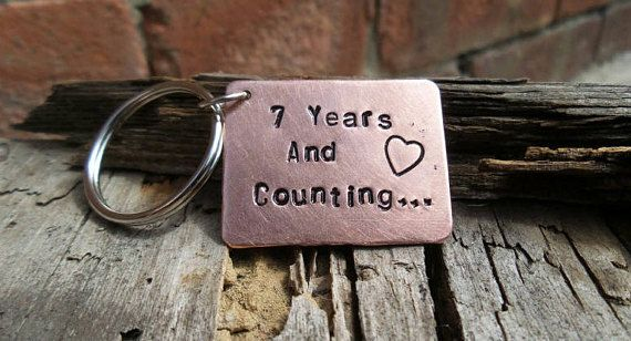 7 Year Wedding Anniversary Keyring Seventh Copper 7th Gifts Quality