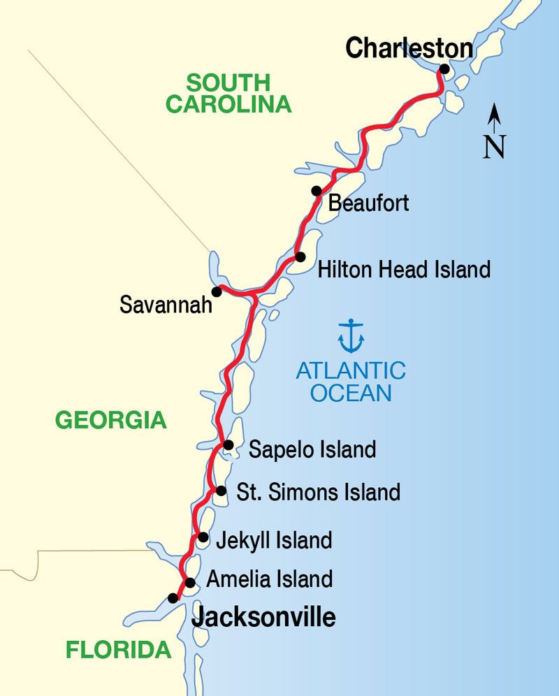 Relaxing Places To Visit In Georgia: Historic South & Golden Isles Cruise Map Now THIS Is A