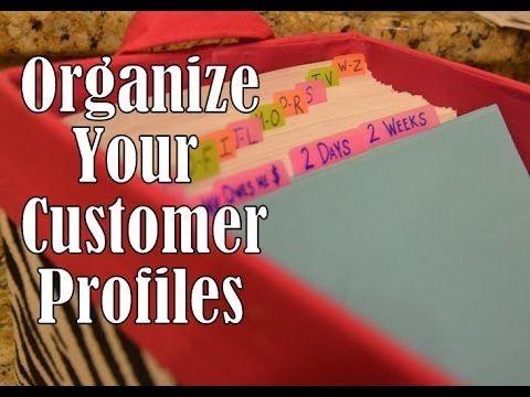 Simply Organized  Pretty Customer Profile Box Playlist  Mary