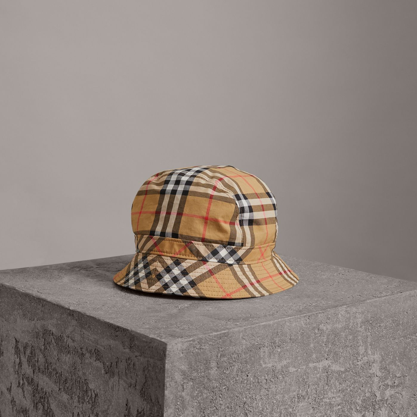 3d99d3225abe9 Vintage Check Bucket Hat in Antique Yellow