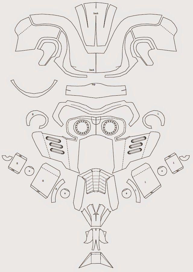 dali-lomo: Guardianes de la Galaxia: Star-Lord máscara DIY (con ...