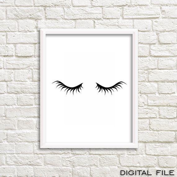 Girly Bedroom Posters: Teen Gift Teen Girl Bed Girly Poster Mascara Print Prints