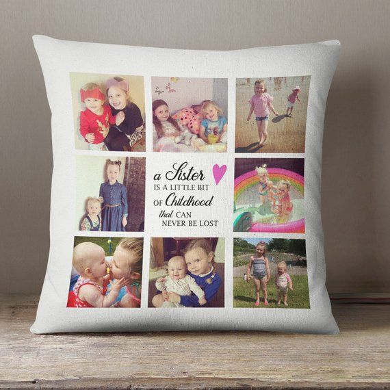 Unique Gifts For Sisters Gifts For Sister Birthday Gift For Her Custom Gift Sisters Gifts SIS Photo Pillow Case Sisters Pillow Cover