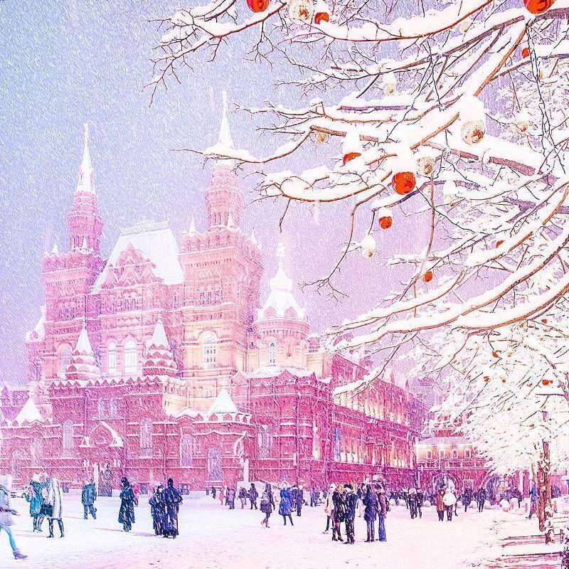 открытка снег в россии человеке изначально