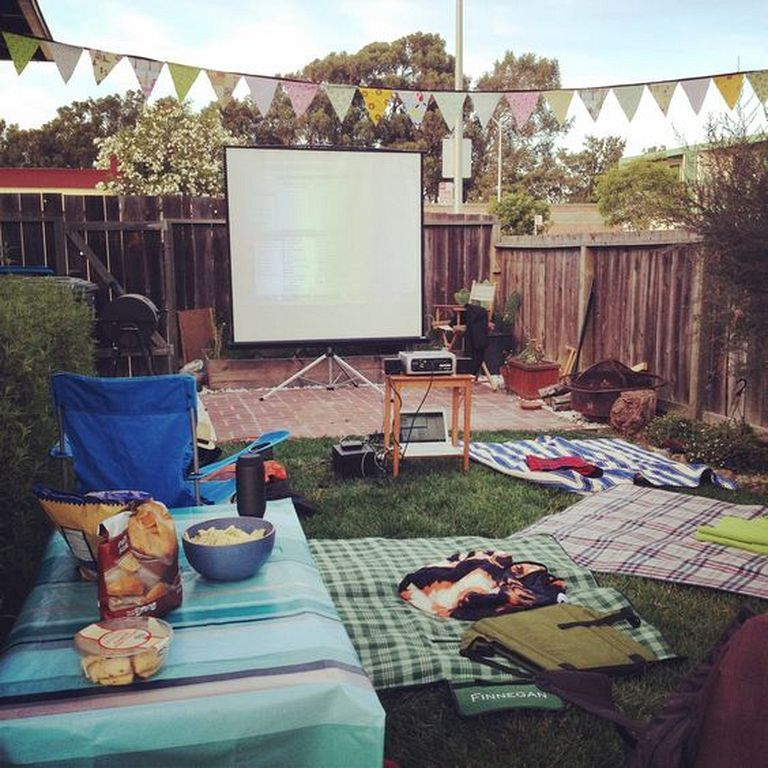 Theater Decorating Ideas: 20+ Outdoor Movie Theater Decorating Ideas For Backyard