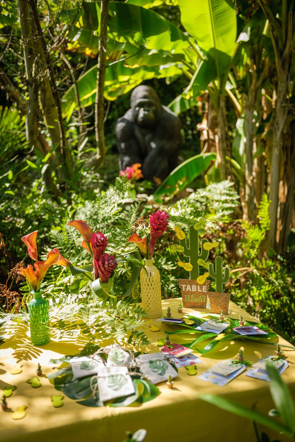 Theme Jungle Deco De Table Jungle Buffet Jungle Idee Deco