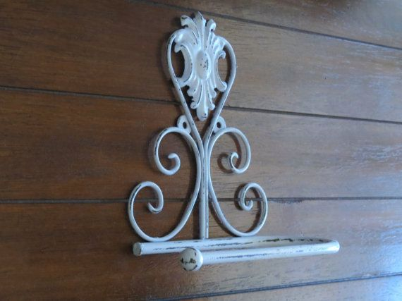 Toilet Paper Holder / Pale Blue or Pick Color / Shabby Chic Bathroom