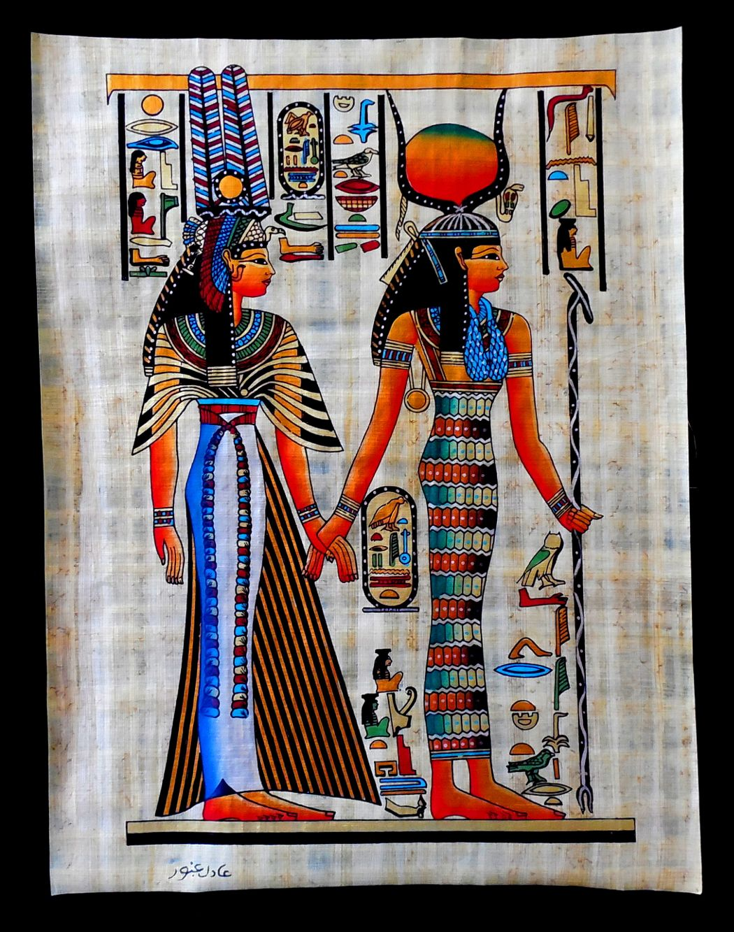 Isis and queen nefertari ancient egyptian papyrus painting isis and queen nefertari ancient egyptian papyrus painting biocorpaavc