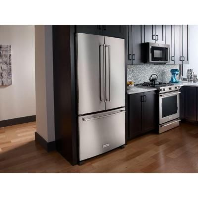Kitchenaid 21 9 Cu Ft French Door Refrigerator In Stainless
