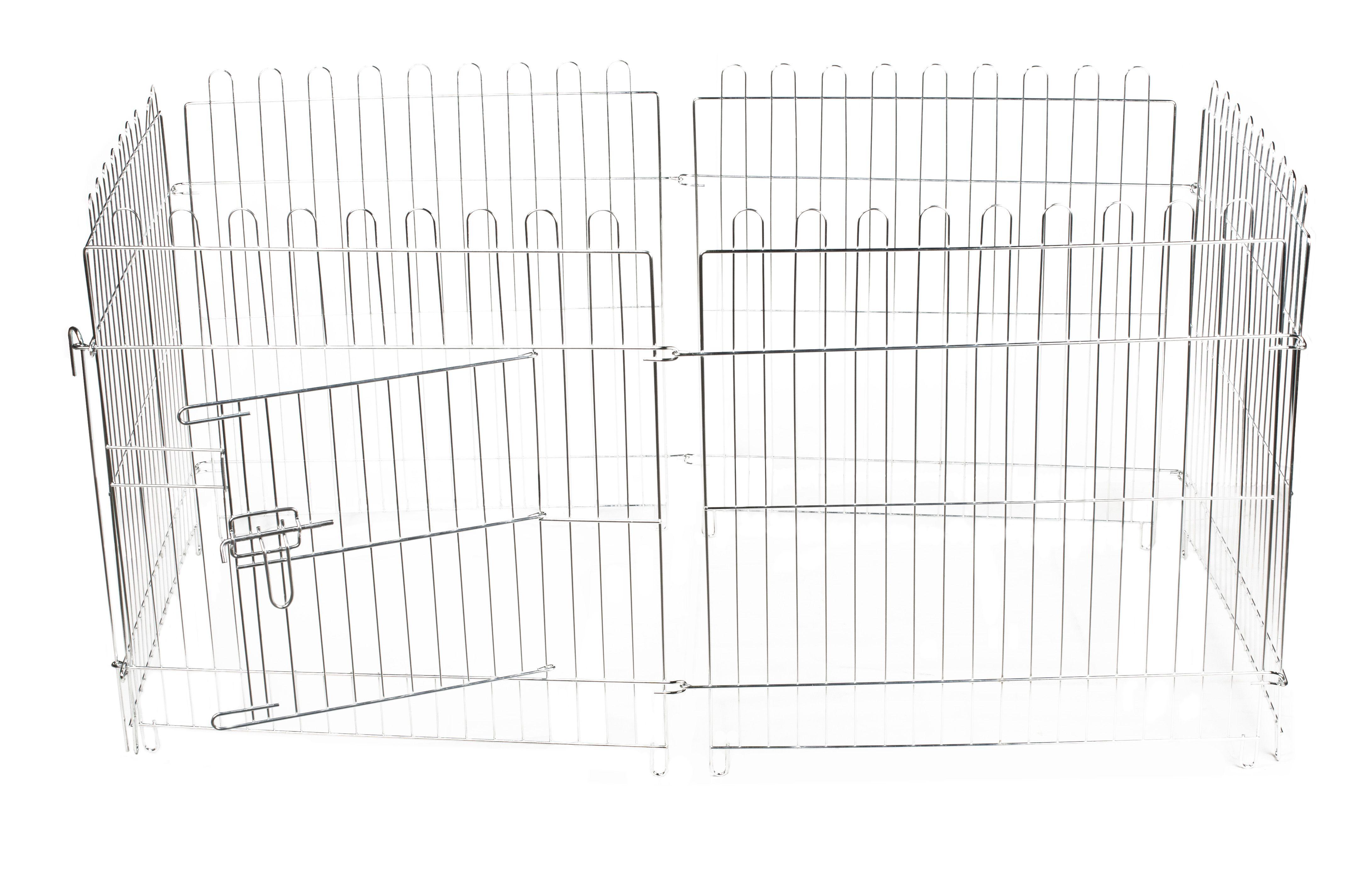 PETMAX Вольер 6 панелей (63х63 см) с дверью