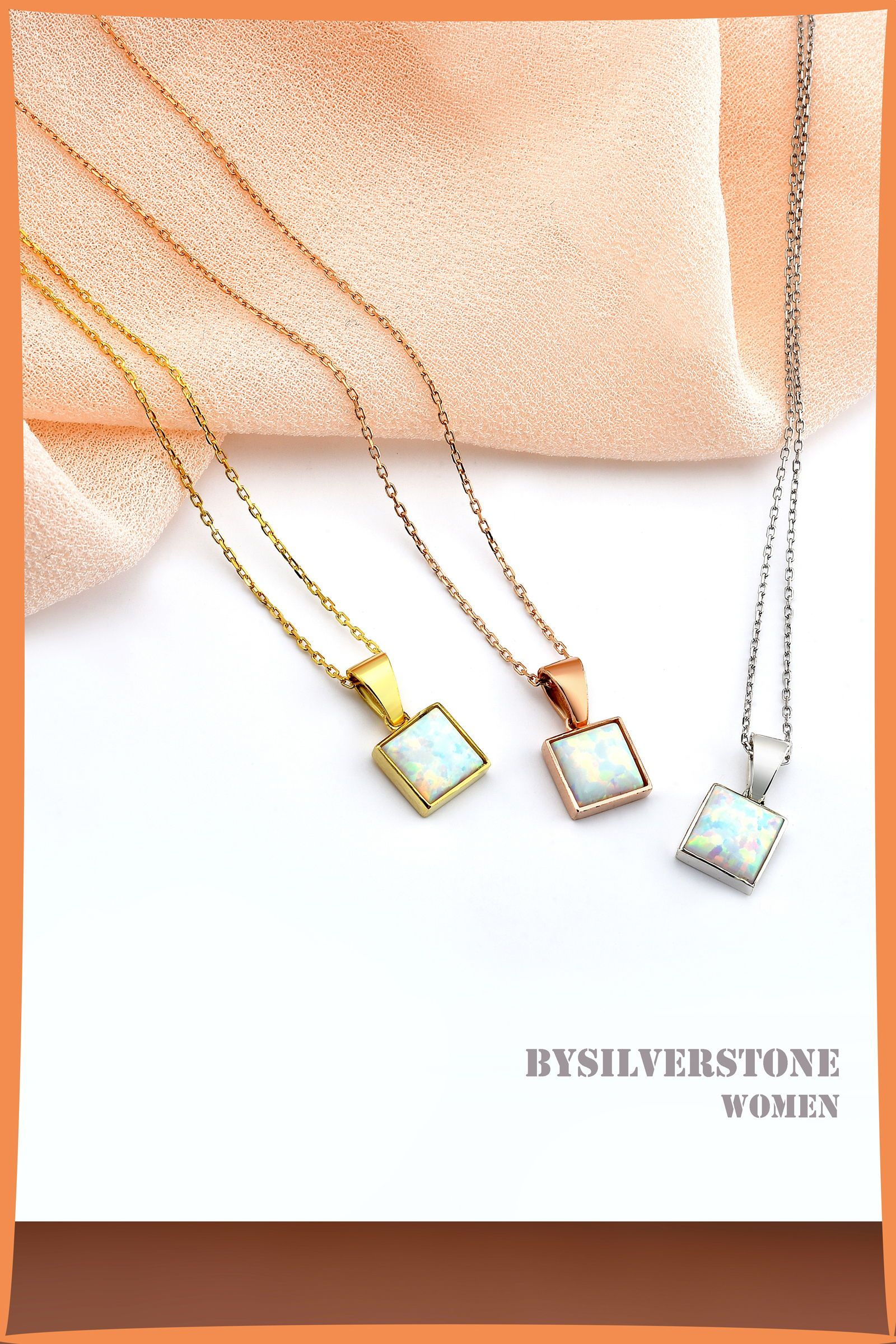 Square Opal Gold Necklace Dainty Opal Necklace 14k Gold Opal Etsy Dainty Opal Necklace Gold Chain With Pendant Opal Necklace