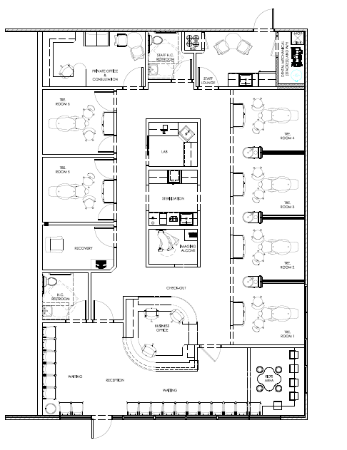 Pin by david hashemi on my dental office floor plans in - Planos de clinicas dentales ...