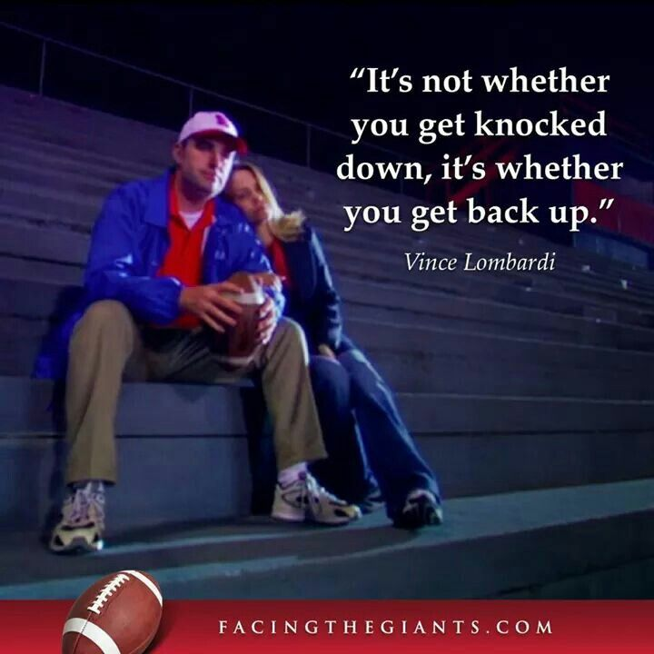 Get back up facing the giants inspirational movies