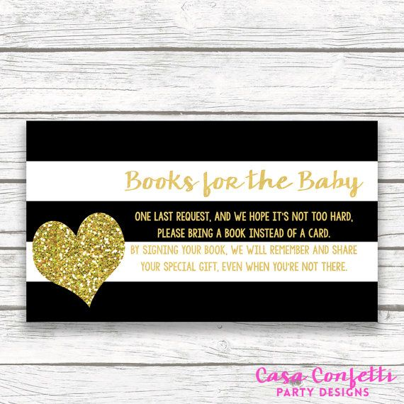 Bring a Book Instead of a Card Baby Shower by CasaConfetti on Etsy