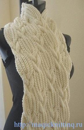 Шарфы спицами - схемы вязания для женщин - Вязание для 277