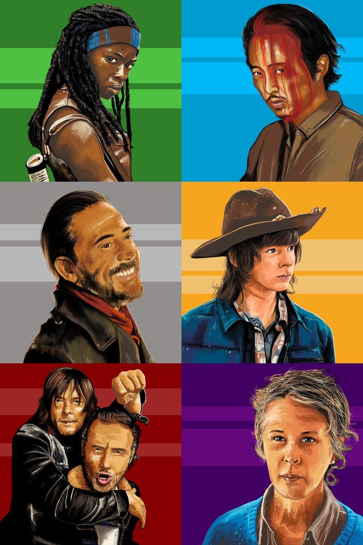Michonne, Glenn Rhee, Negan, Carl Grimes, Daryl Dixon, Rick Grimes e