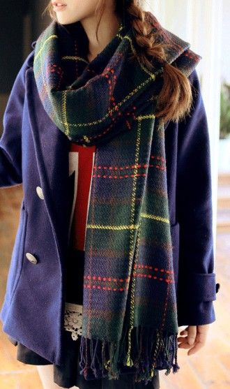 Scottish tartan scarf