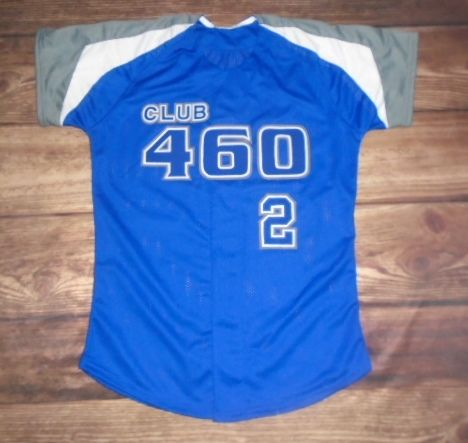 Check Out This Custom Jersey Designed By Club 460 Softball And Created At Nill Brothers In Kansas Cit Custom Baseball Jersey Baseball Jersey Men Custom Uniform