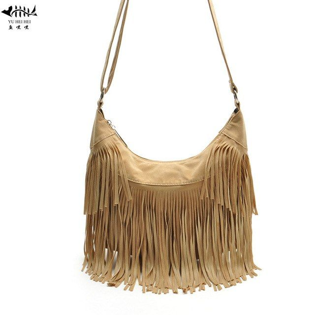 c8472082f763c9 7 Colors Women Messenger Cross body Bag Frosted Leather Tassel Fringe  Bohemian Hobos Bags Lady Fashion Vintage Shoulder Bags Review