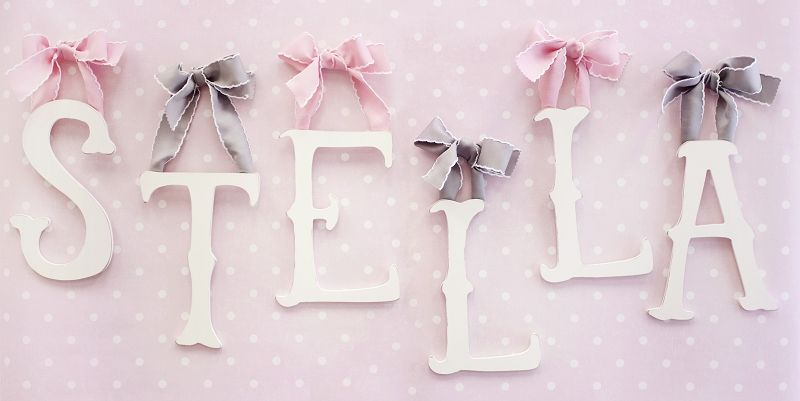 Storybook Letters This Is A Must If Baby S For Her Pink And Gray