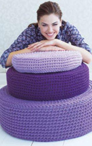 crochet poufs, great for kids rooms