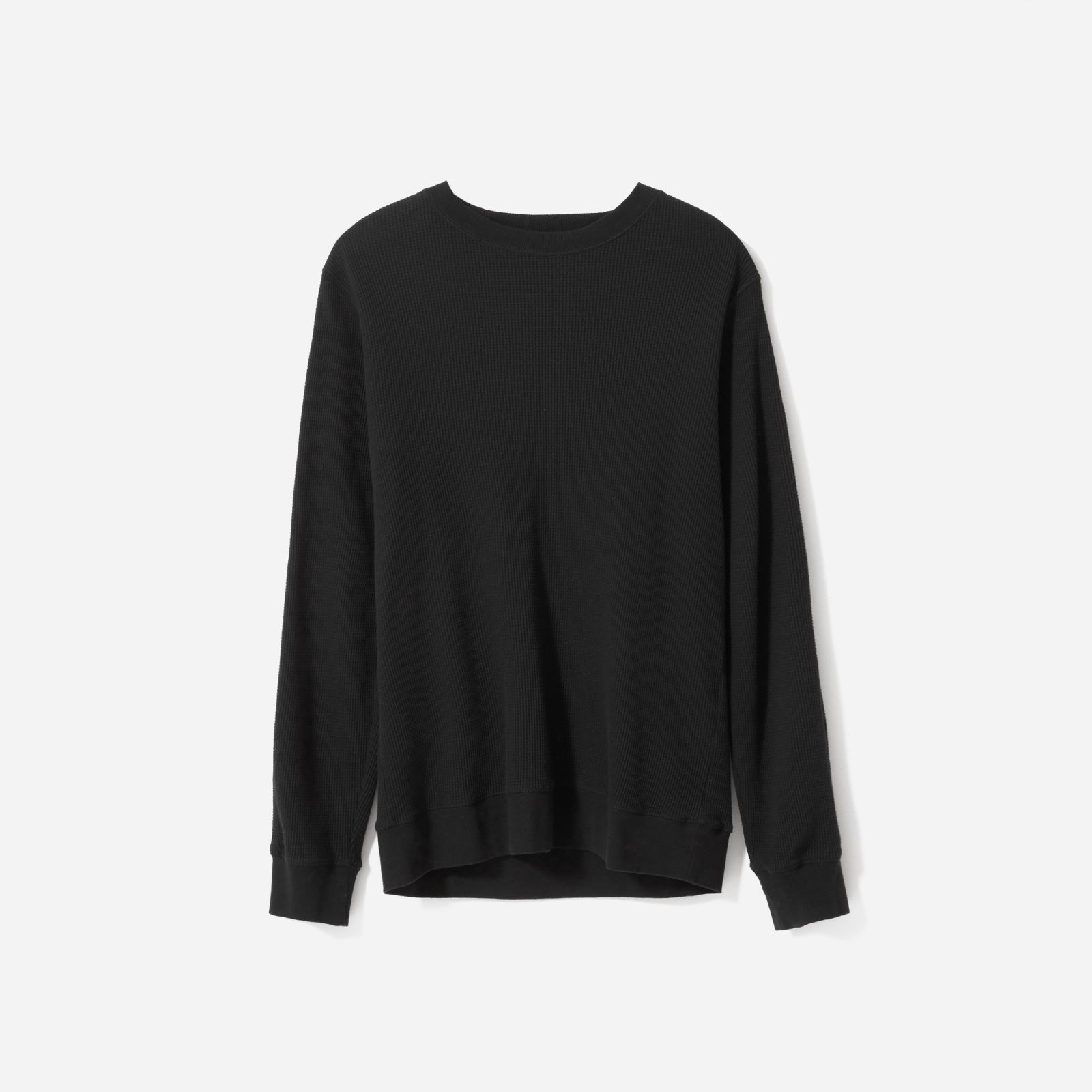 099cb792fa1 Men's Waffle-Knit Crew Sweater by Everlane in Black | Products in ...