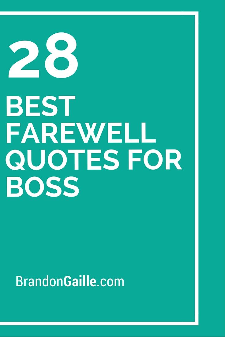 Farewell to boss quotes