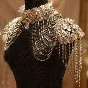 Pin by A/T on Warehouse Project  Shoulder necklace, Rhinestone