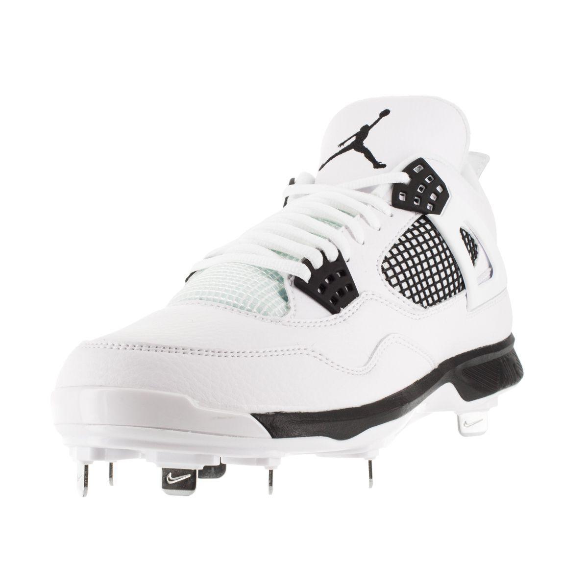 Nike Jordan Men's Jordan Iv Retro Metal /Black Baseball Cleat Men's Us