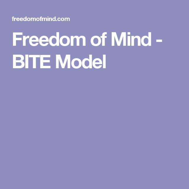 Freedom of Mind - BITE Model-An abusive relationship is basically a destructive cult, just on a smaller scale.  The techniques they use? Identical in nearly every single way.