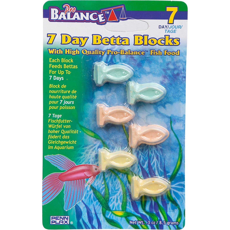 Penn Plax Pro Balance 7 Day Betta Blocks Fish Food