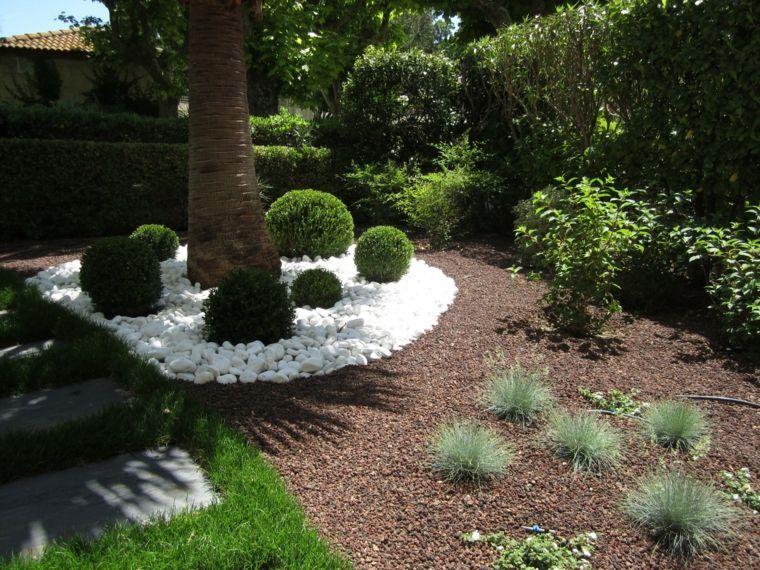 Jard n precioso al estilo mediterr neo con palmera for Jardin y natura