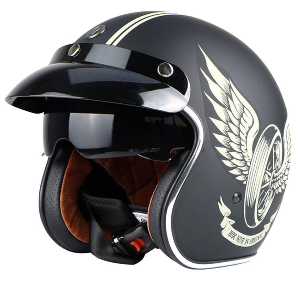 Ece R22 05 3 4 Open Face Motorcycle Helmet Helmet Motorcycle Helmets Vintage Helmet