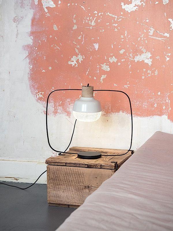 bedside table ... 'New Old Light'  - kimudesign.com