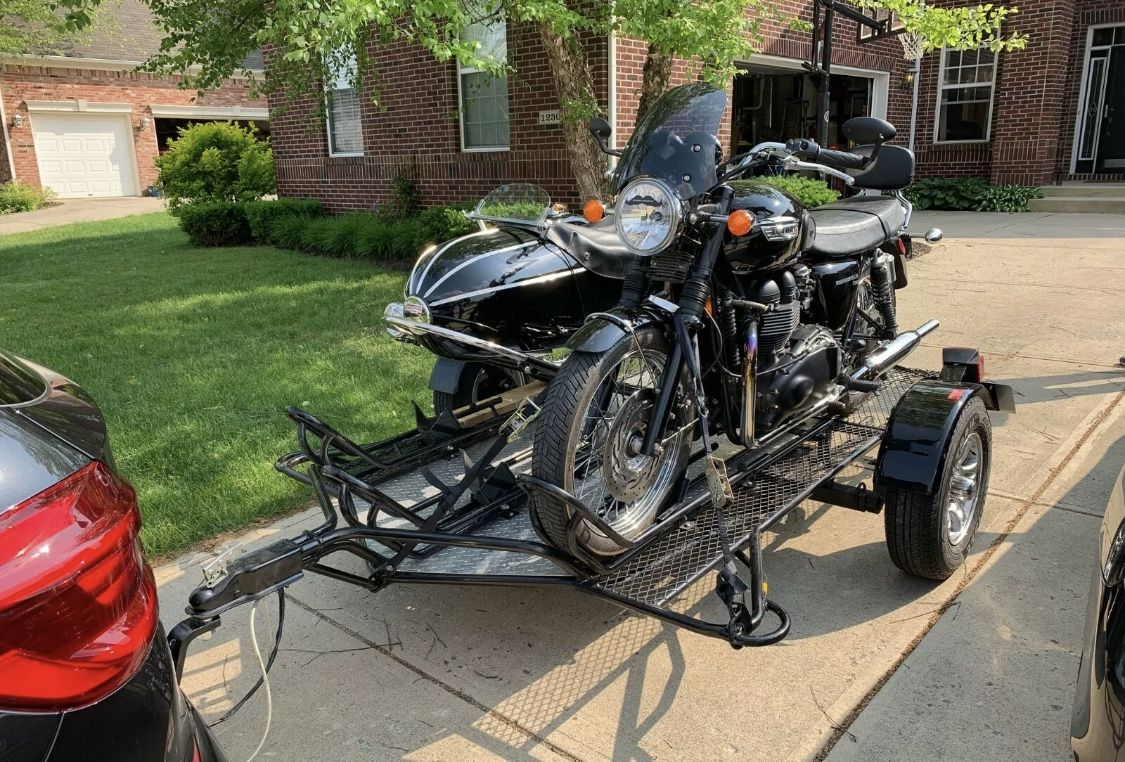Three Rail Motorcycle Trailer Motorcycle Trailer Motorcycle Motorcycle Sidecar