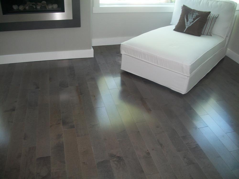 BuildDirect Hardwood Flooring Stained Canadian Hard Maple Charcoal