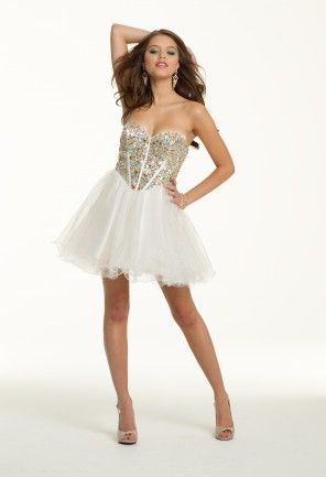 Short Strapless Glitter Corset Dress from Camille La Vie and Group ...
