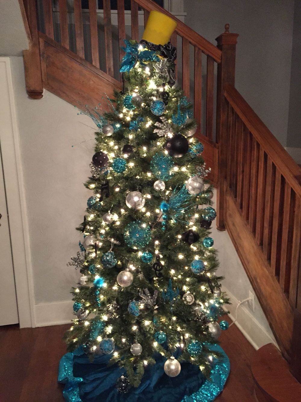 Foyer Christmas tree with staircase