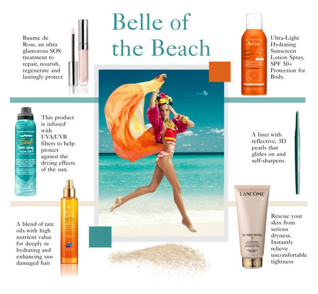 """Belle of the Beach"" by molly2222 ❤ liked on Polyvore featuring beauty, Bumble and bumble, Lancôme, Phyto, Avène, By Terry, Smashbox and beachbeauty"