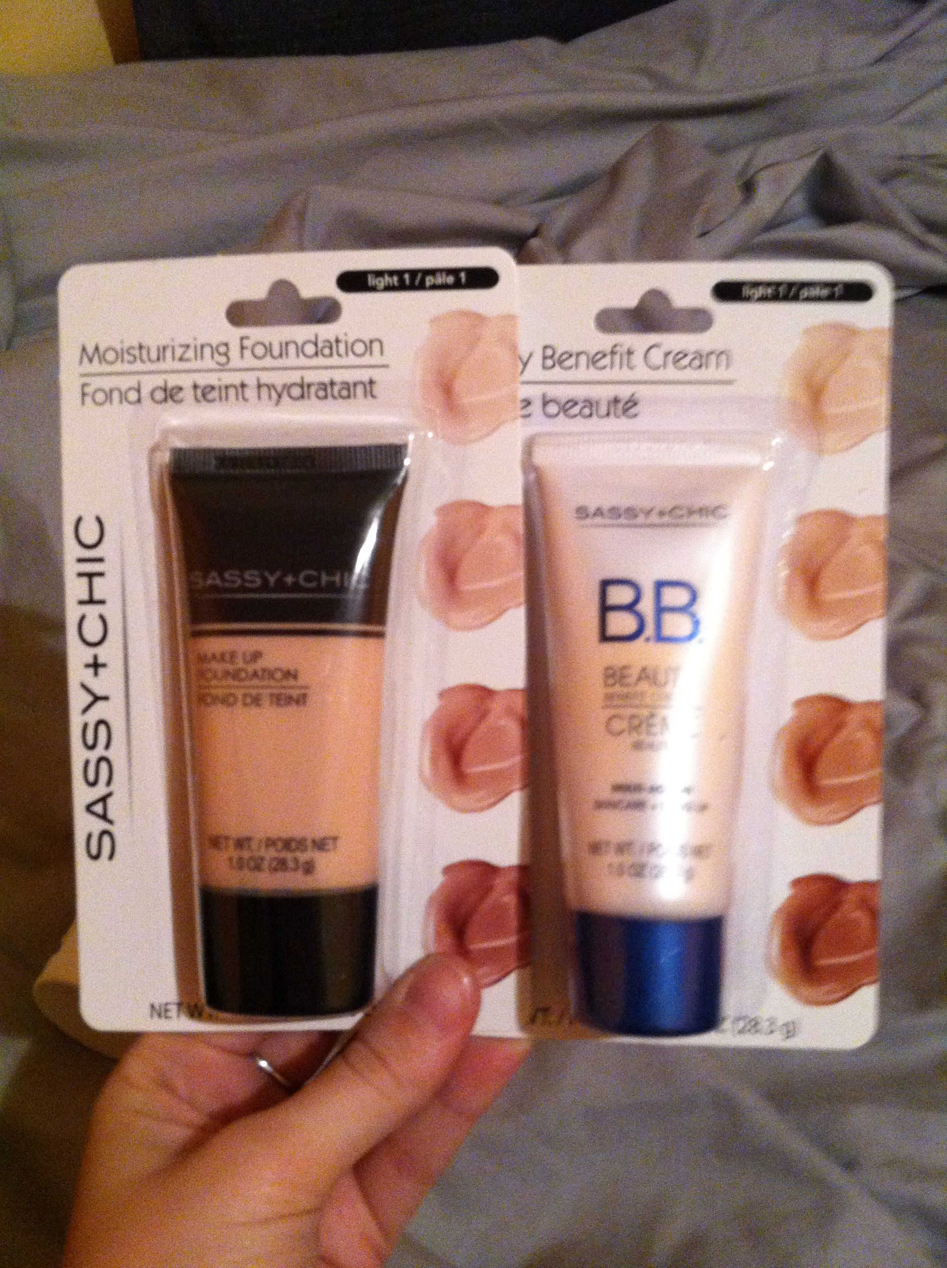 Sassy+chic BB cream and foundation in light/pale. Found