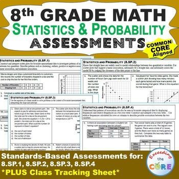 8th grade statistics probability assessments 8 sp common core homework look at and 8th. Black Bedroom Furniture Sets. Home Design Ideas